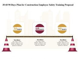 30 60 90 Days Plan For Construction Employee Safety Training Proposal Ppt File Format Ideas