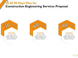 30 60 90 Days Plan For Construction Engineering Services Proposal Ppt Powerpoint Presentation Outline