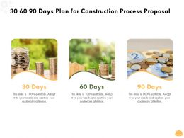 30 60 90 Days Plan For Construction Process Proposal Ppt Powerpoint Presentation Show