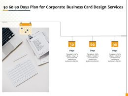30 60 90 Days Plan For Corporate Business Card Design Services Ppt File Aids
