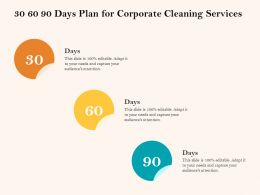 30 60 90 Days Plan For Corporate Cleaning Services Ppt Gallery