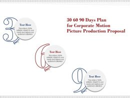 30 60 90 Days Plan For Corporate Motion Picture Production Proposal Ppt Presentation Files