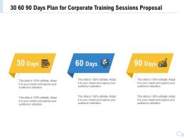 30 60 90 Days Plan For Corporate Training Sessions Proposal Ppt Example File