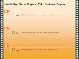 30 60 90 Days Plan For Corporate Video Production Proposal Ppt Gallery