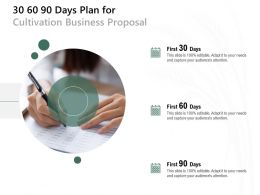 30 60 90 Days Plan For Cultivation Business Proposal Ppt Powerpoint Presentation Layouts