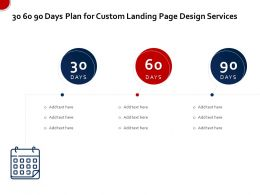 30 60 90 Days Plan For Custom Landing Page Design Services Ppt Inspiration