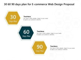 30 60 90 Days Plan For E Commerce Web Design Proposal Adapt Ppt Powerpoint Presentation Example