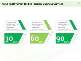 30 60 90 Days Plan For Eco Friendly Business Services Ppt Powerpoint Example