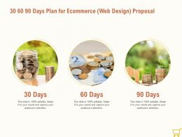 30 60 90 Days Plan For Ecommerce Web Design Proposal Ppt Powerpoint Pictures