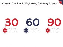 30 60 90 Days Plan For Engineering Consulting Proposal Ppt Powerpoint Presentation Model Show