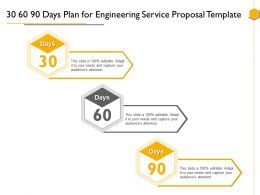 30 60 90 Days Plan For Engineering Service Proposal Template Ppt Powerpoint Presentation Show