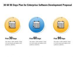 30 60 90 Days Plan For Enterprise Software Development Proposal Audience Ppt Powerpoint Presentation Example
