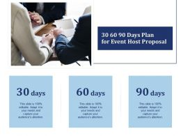 30 60 90 Days Plan For Event Host Proposal Ppt Powerpoint Presentation Layout