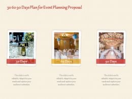 30 60 90 Days Plan For Event Planning Proposal Ppt Powerpoint Presentation File