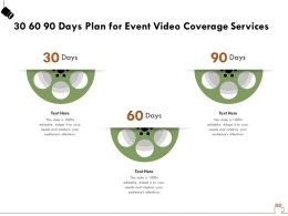 30 60 90 Days Plan For Event Video Coverage Services Ppt Powerpoint Presentation File Clipart