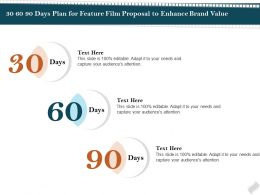 30 60 90 Days Plan For Feature Film Proposal To Enhance Brand Value Ppt File Example