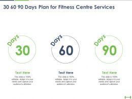 30 60 90 Days Plan For Fitness Centre Services Ppt Powerpoint Presentation Portfolio