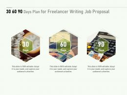 30 60 90 Days Plan For Freelancer Writing Job Proposal Ppt Powerpoint Show