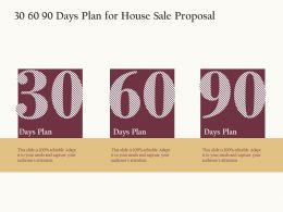 30 60 90 Days Plan For House Sale Proposal Ppt Powerpoint Presentation Summary Mockup