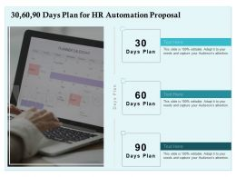 30 60 90 Days Plan For HR Automation Proposal Ppt Powerpoint Presentation Inspiration Portfolio