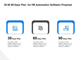30 60 90 Days Plan For HR Automation Software Proposal Ppt Layouts