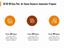 30 60 90 Days Plan For Human Resource Automation Proposal Ppt File Topics