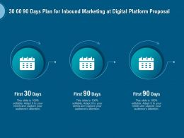 30 60 90 Days Plan For Inbound Marketing At Digital Platform Proposal Ppt Outline Images