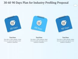 30 60 90 Days Plan For Industry Profiling Proposal Ppt Powerpoint Presentation Show