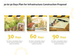 30 60 90 Days Plan For Infrastructure Construction Proposal Ppt Powerpoint Slides