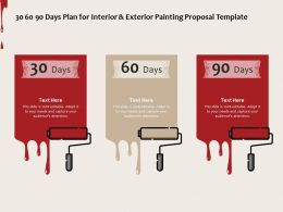 30 60 90 Days Plan For Interior And Exterior Painting Proposal Template Ppt Powerpoint Presentation