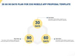 30 60 90 Days Plan For IOS Mobile App Proposal Template Ppt Powerpoint Presentation Example