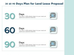 30 60 90 Days Plan For Land Lease Proposal Ppt Powerpoint Presentation Topics