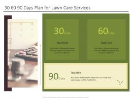 30 60 90 Days Plan For Lawn Care Services Ppt Powerpoint Presentation Icons