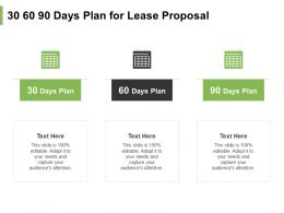30 60 90 Days Plan For Lease Proposal Ppt Powerpoint Presentation Layouts