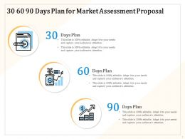 30 60 90 Days Plan For Market Assessment Proposal Ppt Powerpoint File Slides