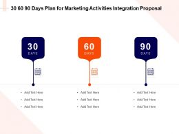 30 60 90 Days Plan For Marketing Activities Integration Proposal Ppt Powerpoint Outline