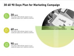 30 60 90 Days Plan For Marketing Campaign Ppt Powerpoint Presentation Styles Clipart Images