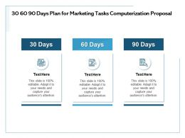30 60 90 Days Plan For Marketing Tasks Computerization Proposal Capture Ppt Powerpoint Presentation Tips