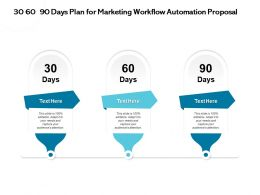 30 60 90 Days Plan For Marketing Workflow Automation Proposal Captureppt Powerpoint Presentation Good