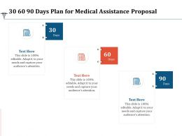 30 60 90 Days Plan For Medical Assistance Proposal Ppt Powerpoint Presentation Icon Deck