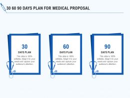 30 60 90 Days Plan For Medical Proposal Ppt Powerpoint Presentation Infographic