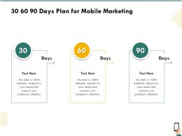 30 60 90 Days Plan For Mobile Marketing R260 Ppt Powerpoint Files