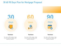 30 60 90 Days Plan For Mortgage Proposal A1261 Ppt Powerpoint Presentation Pictures Aids