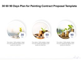 30 60 90 Days Plan For Painting Contract Proposal Template Ppt Powerpoint Presentation Icon Images