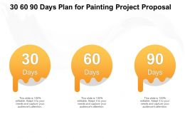 30 60 90 Days Plan For Painting Project Proposal Ppt Powerpoint Presentation Template