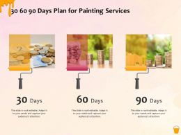 30 60 90 Days Plan For Painting Services Ppt Powerpoint Presentation Gallery Inspiration
