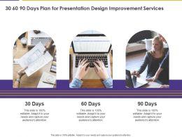 30 60 90 Days Plan For Presentation Design Improvement Services Ppt Layouts