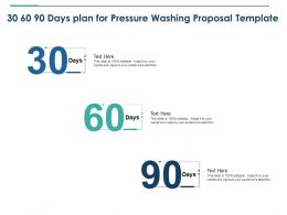 30 60 90 Days Plan For Pressure Washing Proposal Template Ppt Powerpoint Layout