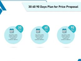 30 60 90 Days Plan For Price Proposal Ppt Powerpoint Presentation Slides Model