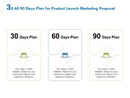 30 60 90 Days Plan For Product Launch Marketing Proposal Ppt File Example
